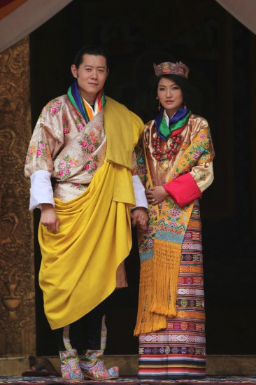 Their Majesties Jigme Khesar Namgyel Wangchuck and Jetsun Pama